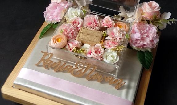 Acrylic Flower Box - Ring Bearer