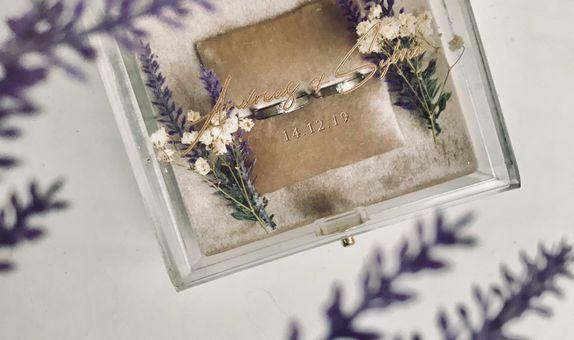 Rectangle ring box (inner velvet)