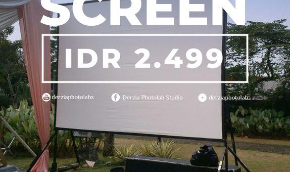 Rental Projector Infocus + Screen