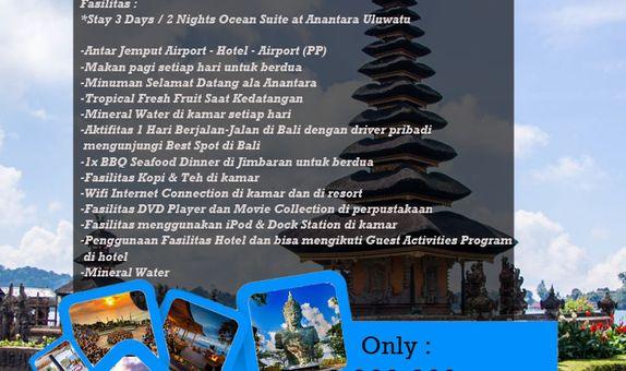 One Moment in Anantara Uluwatu (3D/2N)