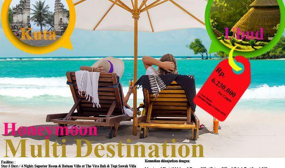 Honeymoon Multi Destination In Kuta & Ubud