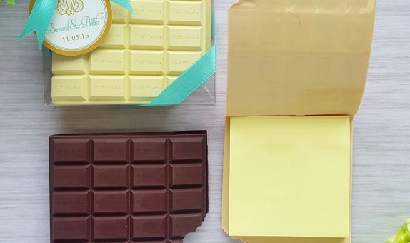 Chocolate post it - mix colour