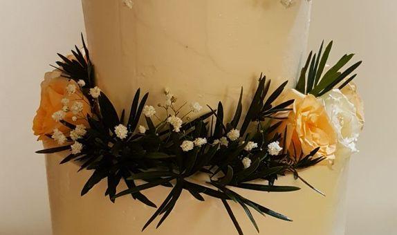 2 tiers Simple Wedding Cake