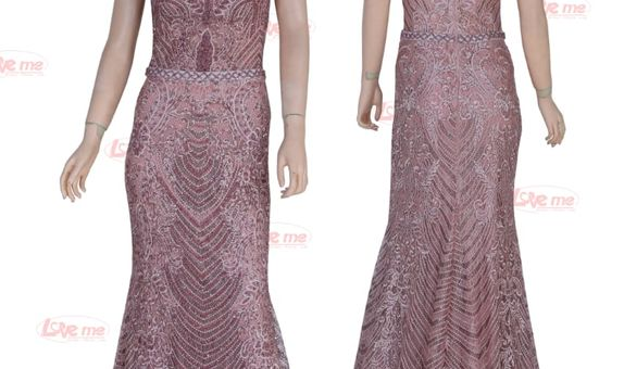 Party dress rose gold 31956
