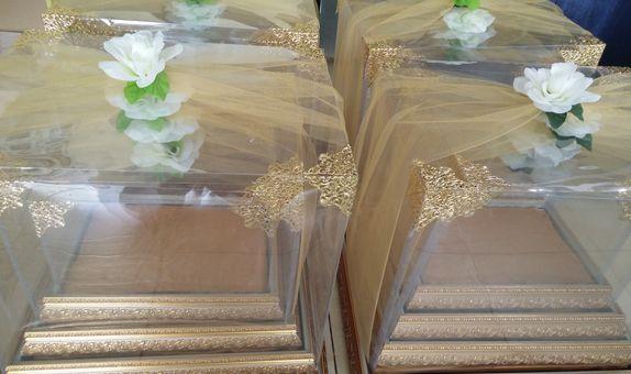 kotak seserahan nikah warna gold isi 4 size seri
