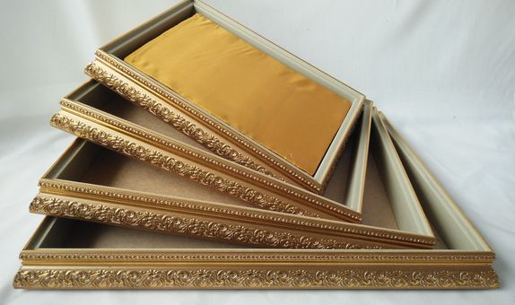 kotak seserahan tutup mika warna gold isi Seri size