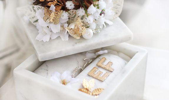 Custom Marble Ring Box