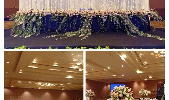 Sekar Jagat Bali - Wedding Dinner Dekorasi Indoor