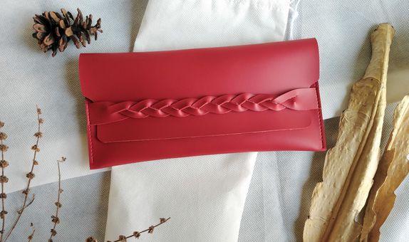 Souvenir pernikahan dompet pouch kulit asli imitasi travel Pouch premi