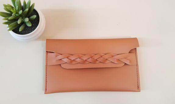 Souvenir dompet pouch souvenir pernikahan kulit asli imitasi kepang