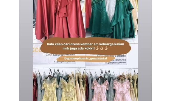 Paket Family Gown (4 Gowns for 2 Mom + 2 Sister)