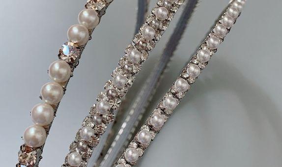 CALLISTA Silver White Headband