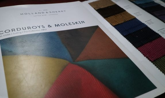 Suits / Jacket Corduroy or Moleskin Fabric Holland and Sherry
