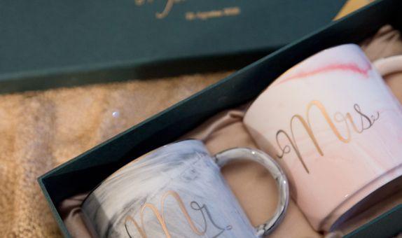 Marble Mugs Mr & Mrs