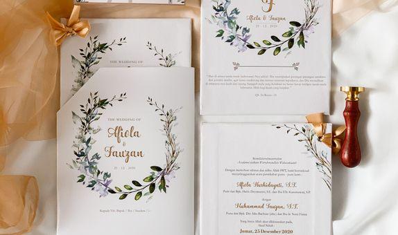 Afiola & Fauzan Single Hardcover Wedding Invitation