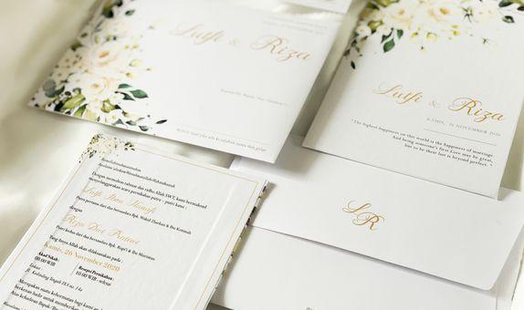 Lutfi & Riza - Single Hardcover Wedding Invitation