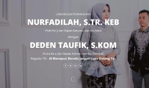 Undangan Website, Undangan Blog