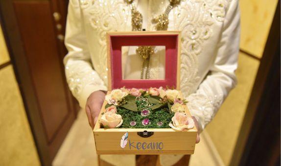 Wooden Box Perhiasan Mahar window kaca