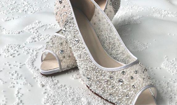 KHLOE - WHITE - 5cm - Wedding Shoes - Bride Shoes - Party Shoes