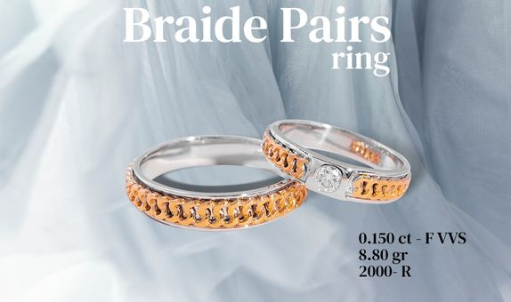 Braide Paris Couple RIng