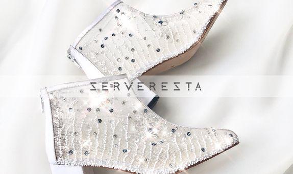 LEXIA - WHITE - 7cm - Wedding Shoes - Bride Shoes - Party Shoes