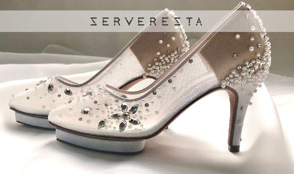 LISTINE - WHITE - 9cm - Wedding Shoes - Bride Shoes - Party Shoes