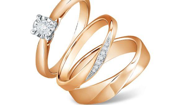 DP FORGET ME NOT DIAMOND WEDDING RING (1 PAIR)