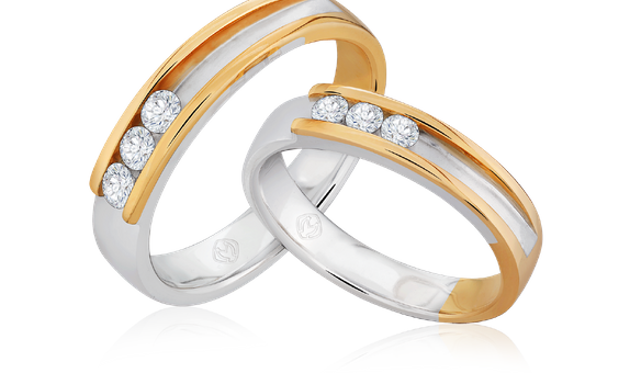 DP TRILOGY COLLECTION DIAMOND WEDDING RING (GROOM'S RING)