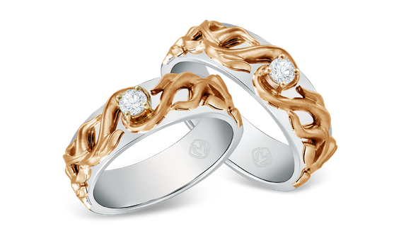 DP TEX SAVERIO FIRE COLLECTION DIAMOND WEDDING RING (GROOM'S RING)