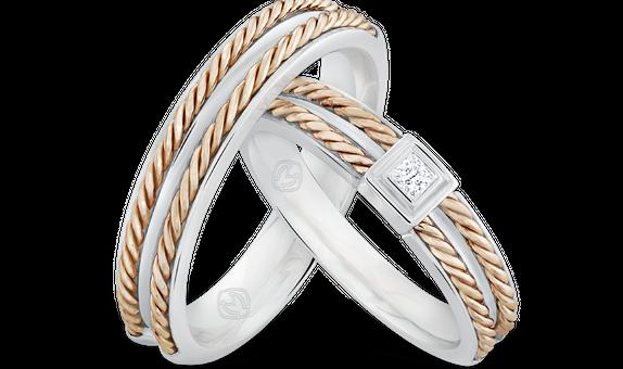 DP TIMELESS WEDDING RING AUREOLLA (1 PAIR)