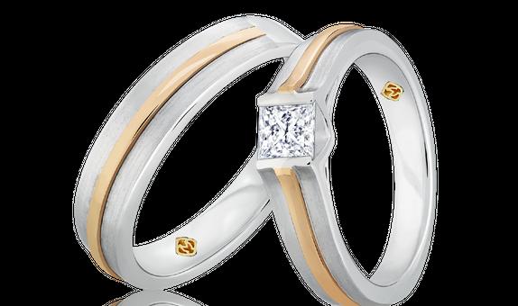 DP TIMELESS WEDDING RING FORGET ME NOT (1 PAIR)