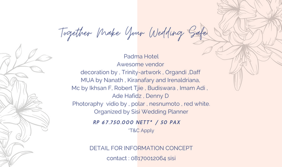 New normal wedding package