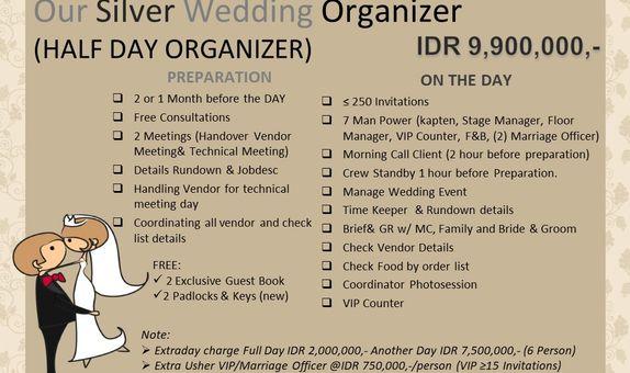 Intimate Wedding Organizer (Max 500pax)