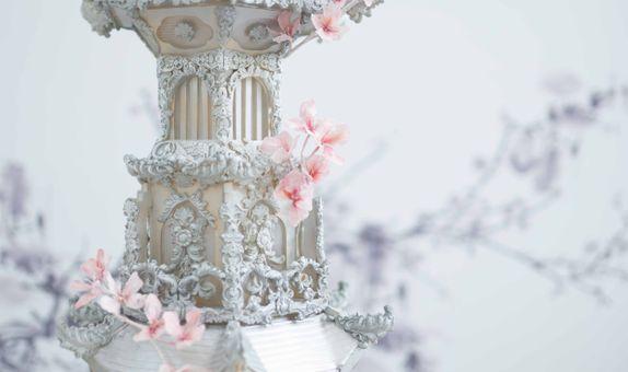 Engagement/Seserahan Cake - Japanese Pagoda