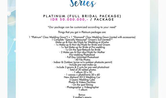 "Paket Bridal Wedding ""Platinum"" (Full Bridal Package) [CUSTOM GOWN]"