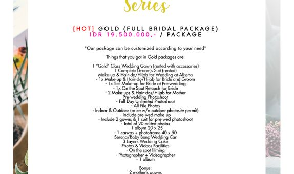 "Paket Bridal Wedding ""Gold"" (Full Bridal Package) [HOT]"