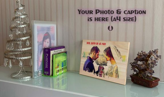 Photo on Wood Memorable Gift for Bride Groom, Bestman and Maid
