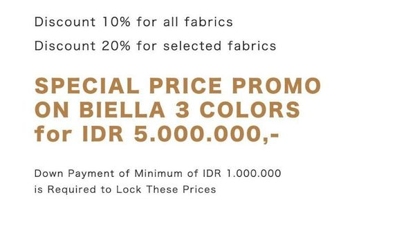 Special Price Promo on Biella 3 Colors