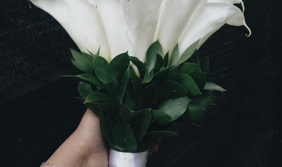 Wedding bouquet calla lily
