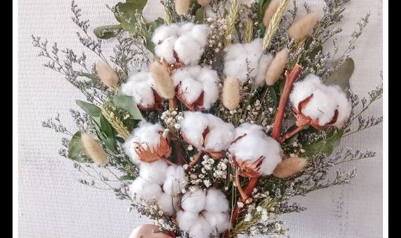 Wedding bouquet Cotton flower