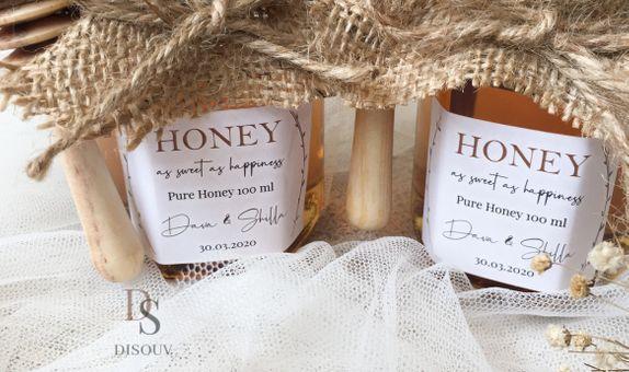 Honey in Jar 100 ml with Honey Dipper