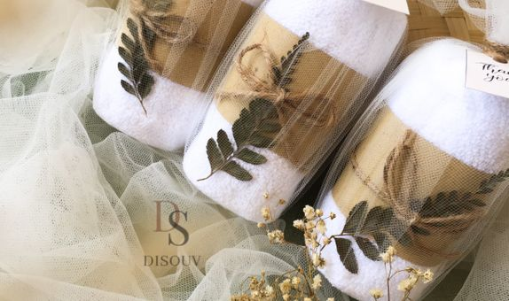 Face Towel with Tulle
