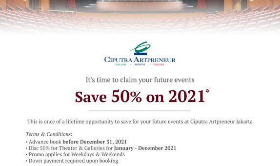 SAVE 50% ON 2021