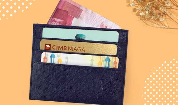 Dompet Kartu 3 Selipan with Money Slot