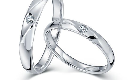 TIARIA Sparkling Star Diamond Wedding Ring Perhiasan Emas Cincin Nikah