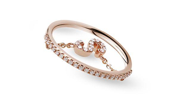 SIORAI Alphabet Diamond Ring Cincin Berlian Huruf Sz 4 -15 (Pre Order)