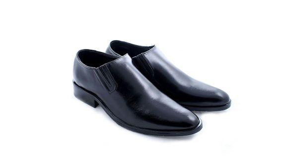 Salvare Shoes - SepatuWedding Pria - Slip On Wholecut Hitam