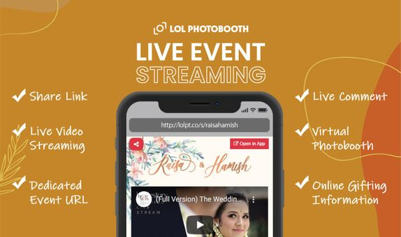 Live Virtual Wedding & Event Streaming by LOLPhotobooth (Standard)