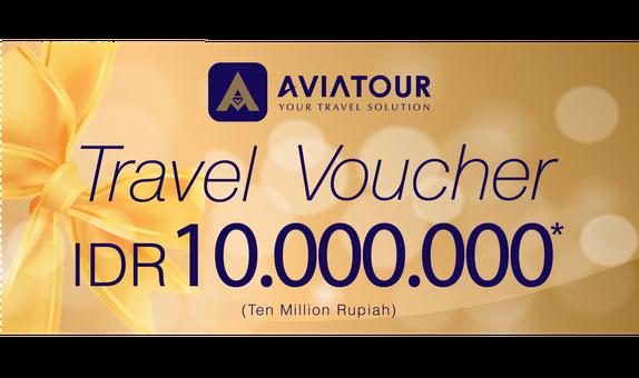 Avia Tour Travel Voucher 10 Juta Rupiah