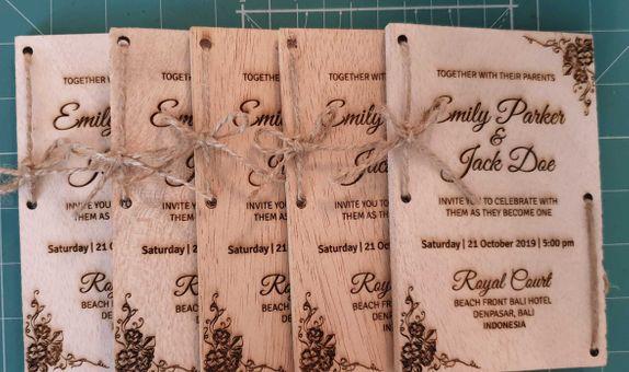 Wood Invitation Card